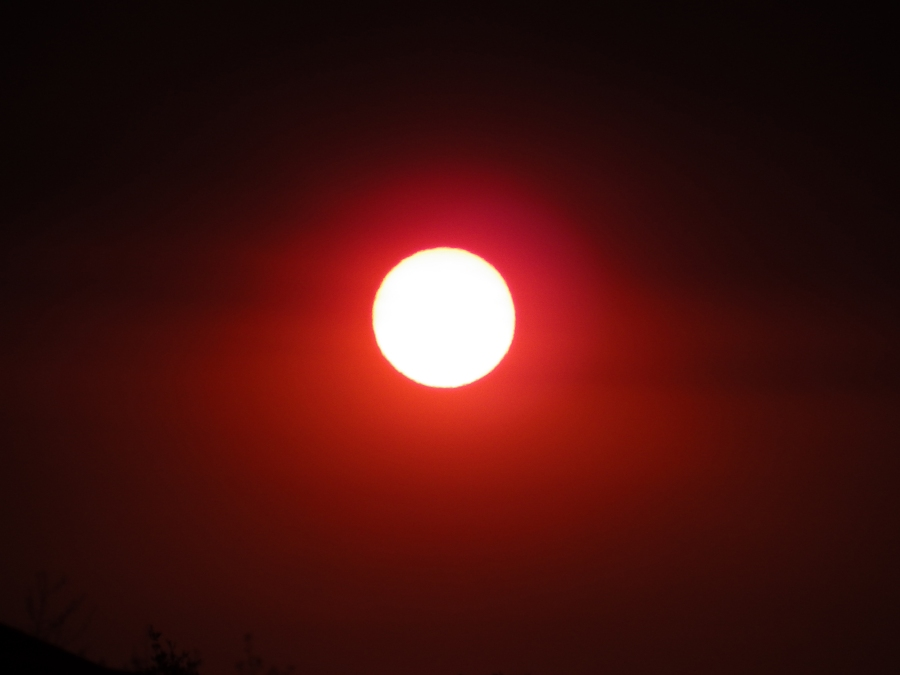 Sunset during Australian Bushfire